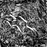 Abstrakt skrobaniny na blackboard ilustracji