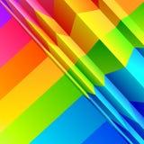 abstrakt skrzyknie colour Zdjęcie Royalty Free