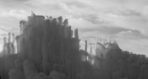 Abstrakt is skulpterar i svartvitt arkivfoton