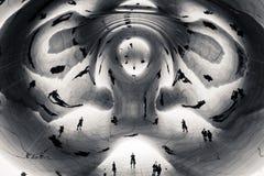 abstrakt skulptur Arkivbilder