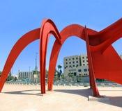 Abstrakt skulptur i Jerusalem Royaltyfria Bilder