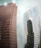 abstrakt skyskrapor Arkivbilder