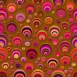 Abstrakt slumpmässig sömlös modell för färgcirklar Arkivbilder