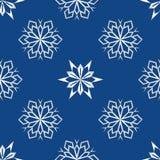 Abstrakt snöflinga av geometriska former Ändlös enkel illustration, bild idérikt Arkivfoto