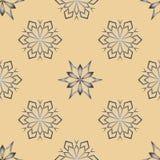 Abstrakt snöflinga av geometriska former Ändlös enkel illustration, bild idérikt Royaltyfri Foto