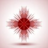 abstrakt snowflake Arkivfoton