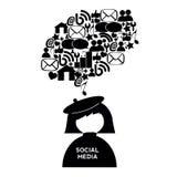 Abstrakt socialt massmedia Royaltyfria Foton