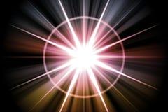 abstrakt sol- stjärnasunburst Arkivfoton