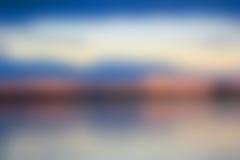 Blått- och rosa färgsolnedgång Arkivfoton