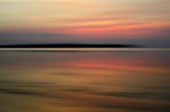 Abstrakt solnedgång för rörelsesuddighet Arkivbilder