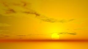 Abstrakt solnedgånghimmel Arkivbilder