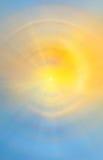 Abstrakt soluppgång på havet Arkivbild