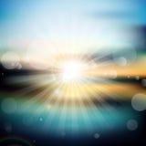 Abstrakt soluppgångbakgrund Royaltyfri Fotografi