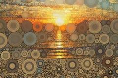 Abstrakt soluppgångsolnedgångbakgrund Royaltyfri Bild