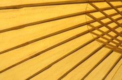 Abstrakt Spa bambuparaply Fotografering för Bildbyråer