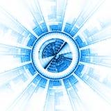 abstrakt spaceship royaltyfri illustrationer