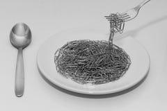 Abstrakt spagetti Royaltyfri Fotografi