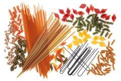 Abstrakt spagettipastabakgrund Royaltyfri Bild