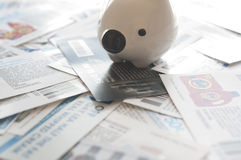 Abstrakt sparande pengarbegrepp Fotografering för Bildbyråer