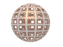 abstrakt sphere 3d Fotografering för Bildbyråer