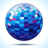 Abstrakt sphere för blått 3d Arkivfoton