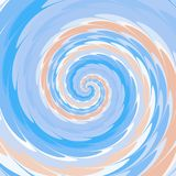 Abstrakt spiral bakgrund i rosa färger, blått och vit Royaltyfri Fotografi