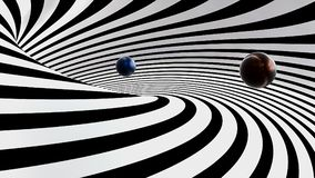 abstrakt spiral 3d Royaltyfri Fotografi
