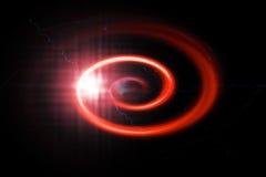 Abstrakt spiral för Red Royaltyfri Foto