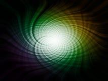 Abstrakt spiral, futuristic element stock illustrationer