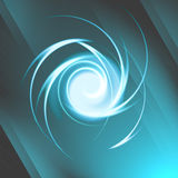 Abstrakt spiral ljus effekt Arkivfoto
