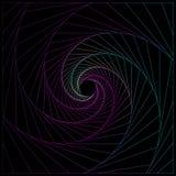 Abstrakt spiral med ljus geometrisk bakgrund stock illustrationer