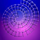 Abstrakt spiral på blå rosa bakgrund Arkivbilder