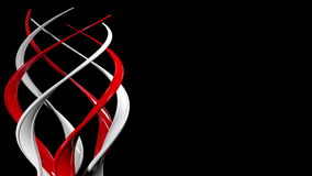 Abstrakt spiral snurr på honom stock video