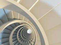 abstrakt spiral trappuppgång Arkivbilder
