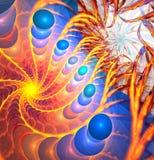 Abstrakt spiral turbulens affisch för fractal för bakgrundskortdesign god Royaltyfria Foton
