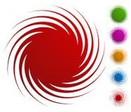 Abstrakt spiral, virvel, piruettformer Uppsättning av beståndsdel 6 royaltyfri illustrationer