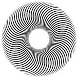 Abstrakt spirala, vortex element Promieniujący, promieniowe przegięte linie Obrazy Royalty Free