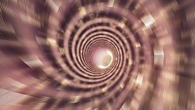 Abstrakt spirali przestrzeni Wormhole czasu Tunelowa podróż Loopable ilustracji