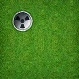 Abstrakt sportbakgrund av golfhålet på bakgrund för grönt gräs Arkivbild