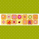 abstrakt springtime för kortblommahälsning Royaltyfri Bild