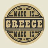 Abstrakt stämpel eller etikett med text som göras i Grekland vektor illustrationer