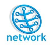Abstrakt stängd nätverkssymbol Arkivfoton