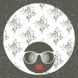 Abstrakt stående av den unga och nätta afrikanska kvinnan royaltyfri illustrationer