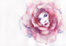 abstrakt ståendekvinna skärm för efterföljd för bakgrundsdatormode Royaltyfria Foton