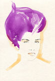 abstrakt ståendekvinna skärm för efterföljd för bakgrundsdatormode Royaltyfri Fotografi