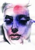 abstrakt ståendekvinna skärm för efterföljd för bakgrundsdatormode Fotografering för Bildbyråer