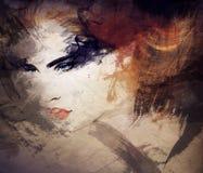 abstrakt ståendekvinna skärm för efterföljd för bakgrundsdatormode Royaltyfri Foto