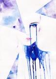 abstrakt ståendekvinna skärm för efterföljd för bakgrundsdatormode Royaltyfria Bilder