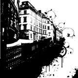 abstrakt stad royaltyfri illustrationer