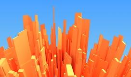 abstrakt stad 3d Arkivbild